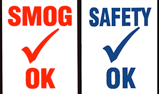 Smog Check/Safety Check Decals {EZ611 - EZ612}