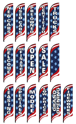 Swooper Flag & Pole Kit - Patriotic {NB827}
